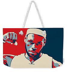 Lebron James Weekender Tote Bag by Taylan Apukovska