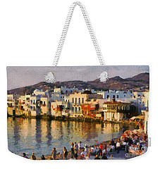 Little Venice In Mykonos Island Weekender Tote Bag