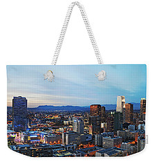Los Angeles Skyline Weekender Tote Bag by Kelley King