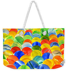 Weekender Tote Bag featuring the photograph Marbles by Jim Hughes