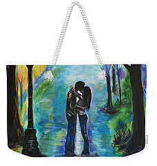Moonlight Kiss Weekender Tote Bag by Leslie Allen