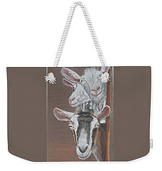 3 Nosey Goats Weekender Tote Bag