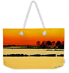 Ocean Beach Sunset Weekender Tote Bag by Carol F Austin
