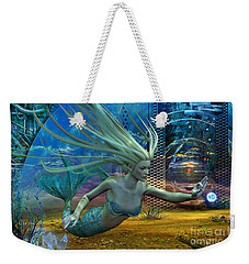 Weekender Tote Bag featuring the digital art Of Myths And Legends by Shadowlea Is