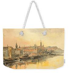 Old Warsaw - Wisla River Weekender Tote Bag
