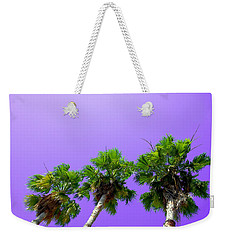 Weekender Tote Bag featuring the photograph 3 Palms by J Anthony