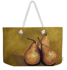 3 Pear Study Weekender Tote Bag by Marna Edwards Flavell
