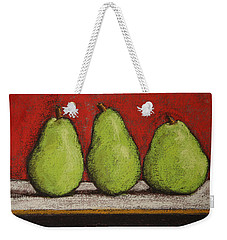 3 Pears Weekender Tote Bag by Marna Edwards Flavell