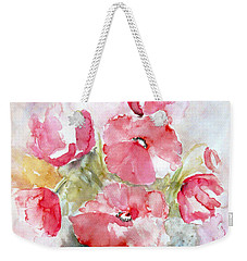 Weekender Tote Bag featuring the painting Poppies by Jasna Dragun
