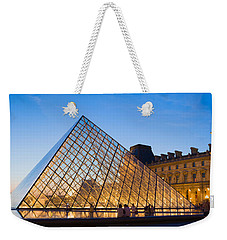 Pyramid In Front Of A Museum, Louvre Weekender Tote Bag by Panoramic Images