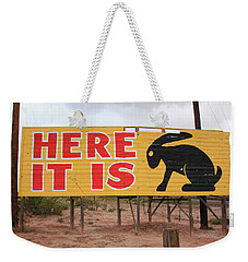 Route 66 - Jack Rabbit Trading Post Weekender Tote Bag