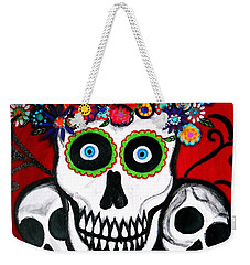 3 Skulls Weekender Tote Bag by Pristine Cartera Turkus