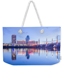 Springfield Massachusetts City Skyline Early Morning Weekender Tote Bag