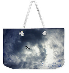 Weekender Tote Bag featuring the photograph Storm Flyer by Marilyn Wilson