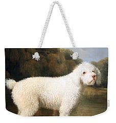 Stubbs' White Poodle In A Punt Weekender Tote Bag by Cora Wandel