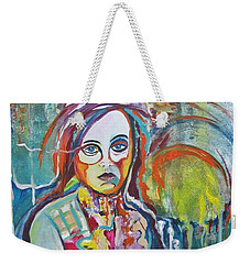 Weekender Tote Bag featuring the painting The Show Must Go On by Diana Bursztein