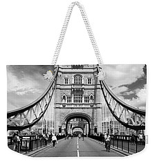 Weekender Tote Bag featuring the photograph Tower Bridge In London by Chevy Fleet