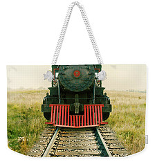 Vintage Train Engine Weekender Tote Bag