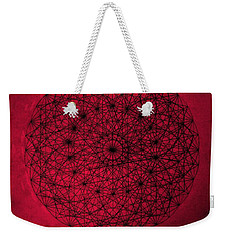 Weekender Tote Bag featuring the drawing Wave Particle Duality by Jason Padgett
