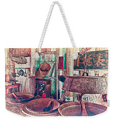 Weekender Tote Bag featuring the photograph 3-wok Kitchen by Jim Thompson