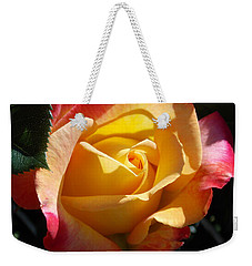 Yellow Rose Weekender Tote Bag by Catherine Gagne