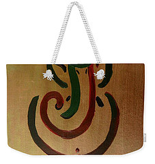 33 Rakta Ganesh Weekender Tote Bag by Kruti Shah