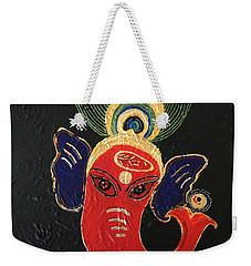 34 Ganadhakshya Ganesha Weekender Tote Bag by Kruti Shah