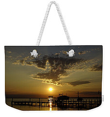 An Outer Banks Of North Carolina Sunset Weekender Tote Bag