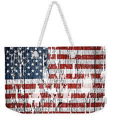 American Flag Weekender Tote Bag by Les Cunliffe