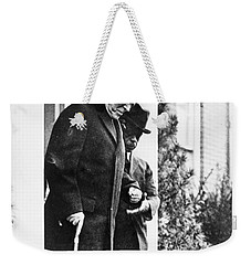 Weekender Tote Bag featuring the photograph Woodrow Wilson (1856-1924) by Granger
