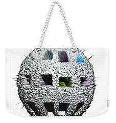 Weekender Tote Bag featuring the digital art 3d Rubix Cube by Robert Margetts