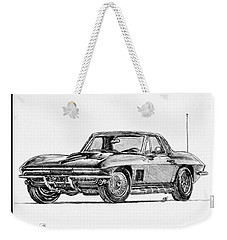 1967 Corvette Weekender Tote Bag