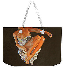 Weekender Tote Bag featuring the painting 4 30 Am by Thu Nguyen