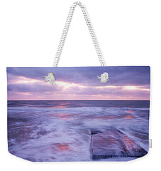 Ballyconnigar Strand At Dawn Weekender Tote Bag