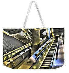 Canary Wharf Station Weekender Tote Bag by David Pyatt