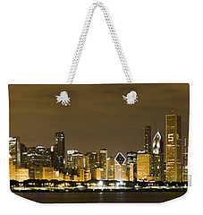 Chicago Skyline At Night Weekender Tote Bag