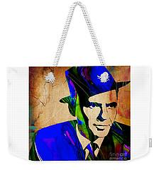 Frank Sinatra Painting Weekender Tote Bag by Marvin Blaine