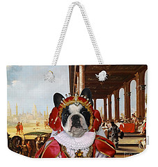 French Bulldog Art Canvas Print Weekender Tote Bag