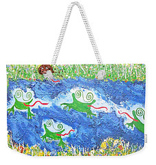 4 Frogs And A Bear Weekender Tote Bag
