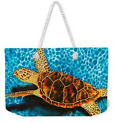 Green Sea Turtle Weekender Tote Bag