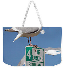 4 Hour Parking Weekender Tote Bag by E Faithe Lester