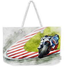Jorge Lorenzo - Team Yamaha Racing Weekender Tote Bag