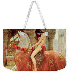 Weekender Tote Bag featuring the painting Lady Godiva by John Collier