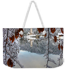 Lake Bohinj In Winter Weekender Tote Bag