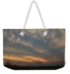 Nebraska Mammatus Sunset Weekender Tote Bag