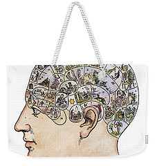 Weekender Tote Bag featuring the painting Phrenology, 19th Century by Granger