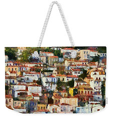Plomari Town Weekender Tote Bag
