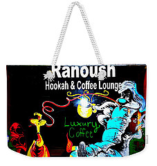 Ranoush Hookah And Coffee Lounge Weekender Tote Bag by Kelly Awad