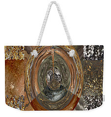Rareearth Rare Earth Stones Minerals Microphotography Micro Photography Tiled Square Silver Chrome B Weekender Tote Bag