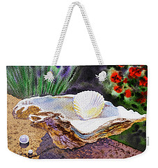 Sea Shell And Pearls Morning Light Weekender Tote Bag